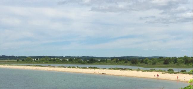 Sandy barrier splits